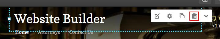 delete element website builder