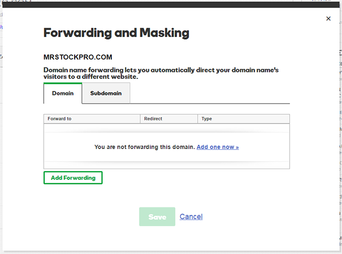 domain forwarding how to