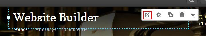 edit text website builder
