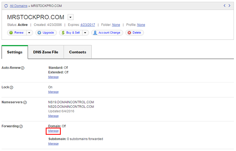 forwarding domain godaddy
