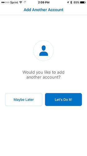 godaddy email iphone add account