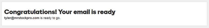 godaddy new email ready