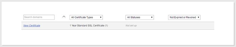 godaddy ssl certificate list