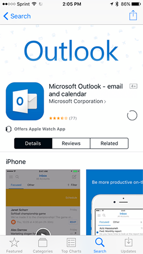 outlook for iphone download